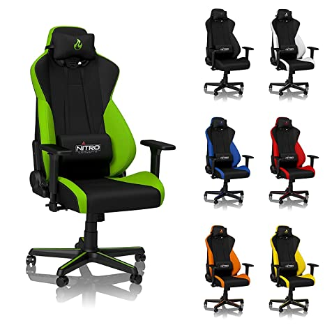 Magnificent Nitro Concepts S300 Gaming Chair Atomic Green Office Chair Ergonomic Cloth Cover Up To 135Kg Users 900 To 1350 Reclinable Adjustable Ibusinesslaw Wood Chair Design Ideas Ibusinesslaworg