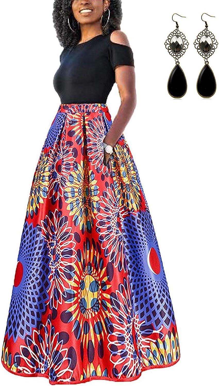 TALLA M. carinacoco Mujer Vestido Fiesta Vintage Floral Impresa Dos Piezas de Cóctel Fiesta Color 2