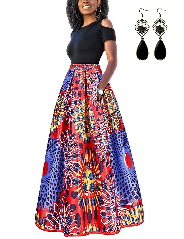 TALLA L. carinacoco Mujer Vestido Fiesta Vintage Floral Impresa Dos Piezas de Cóctel Fiesta Color 2 L