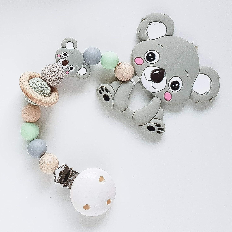 Beißkette 'Koala in Mint und Taupe' Zahnungshilfe für Babys