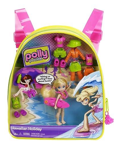 db6c5ae9e1d20e Amazon.com: Polly Pocket Hawaiian Holiday Polly Travel Backpack ...