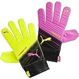 Puma EvoPower Grip 4.3 Tricks GoalKeeper Pink Glo/Safety Yellow/Black Gloves