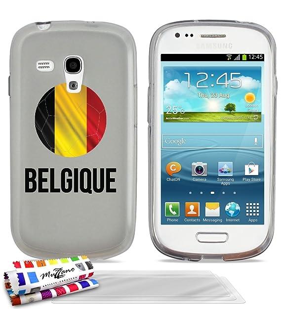 Carcasa Extra-Slim balón de fútbol Belgique Flexible Funda con 3 ...