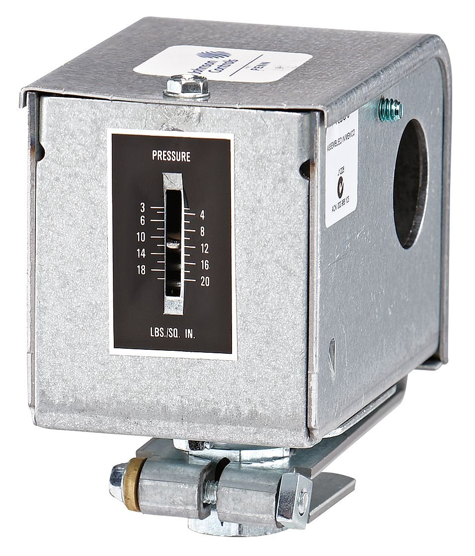Johnson Controls P10BC-7C P10 Series Low Pressure Control, 1 Stage, Single-Pole, Double-Throw