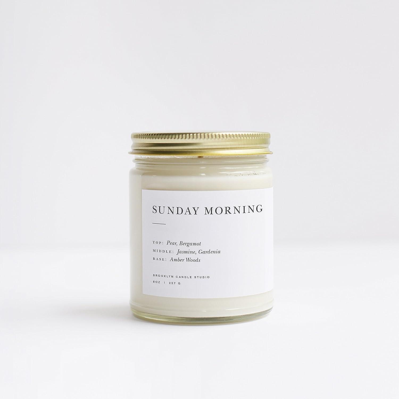 Sunday Morning Minimalist Jar Soy Candle