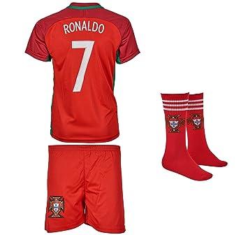 Portugal Ronaldo 7 Heim Trikot Und Shorts Mit Socken Kinder Und