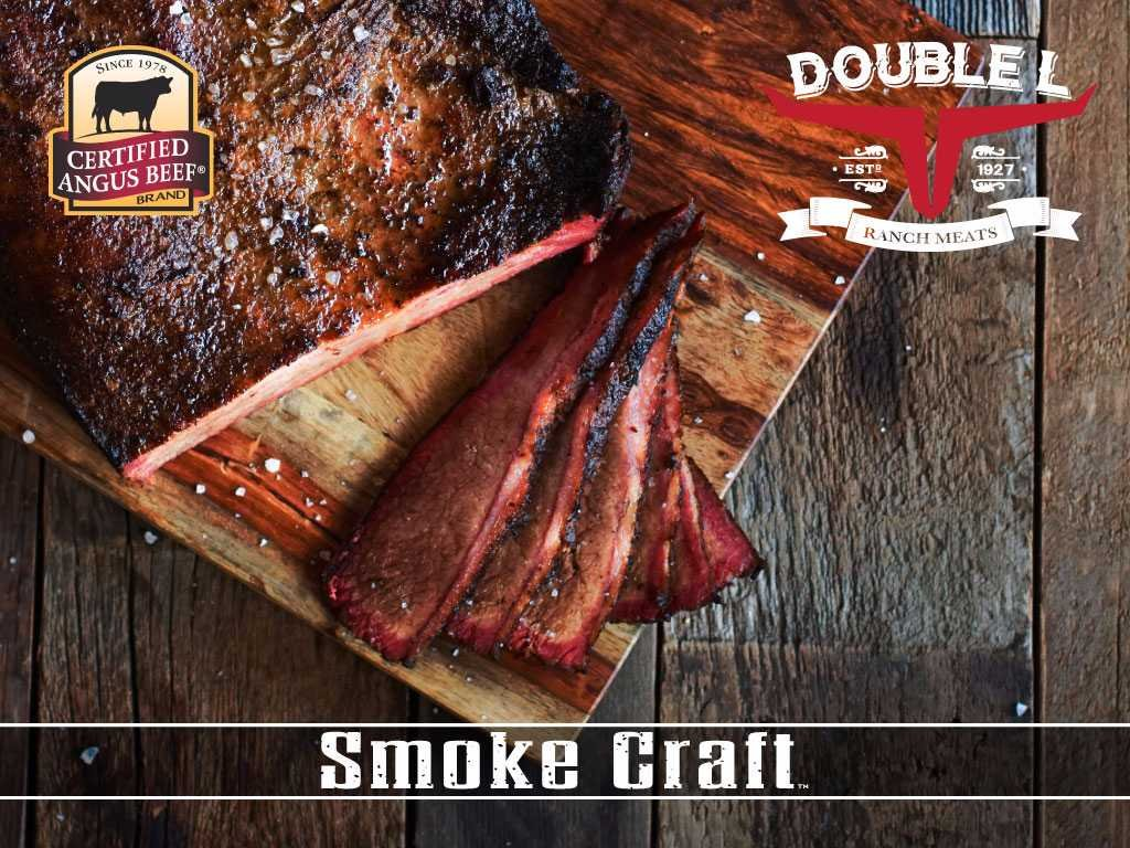 Certified Angus Beef Smoked and Sliced Brisket (2 pack) by Double L Ranch Meats