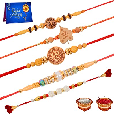 Fast Deliver 6 X Rakhi Thread Bracelet Multicolour Bead Raksha Bandhan Rakhi Wrist Band Dora Fashion Jewelry