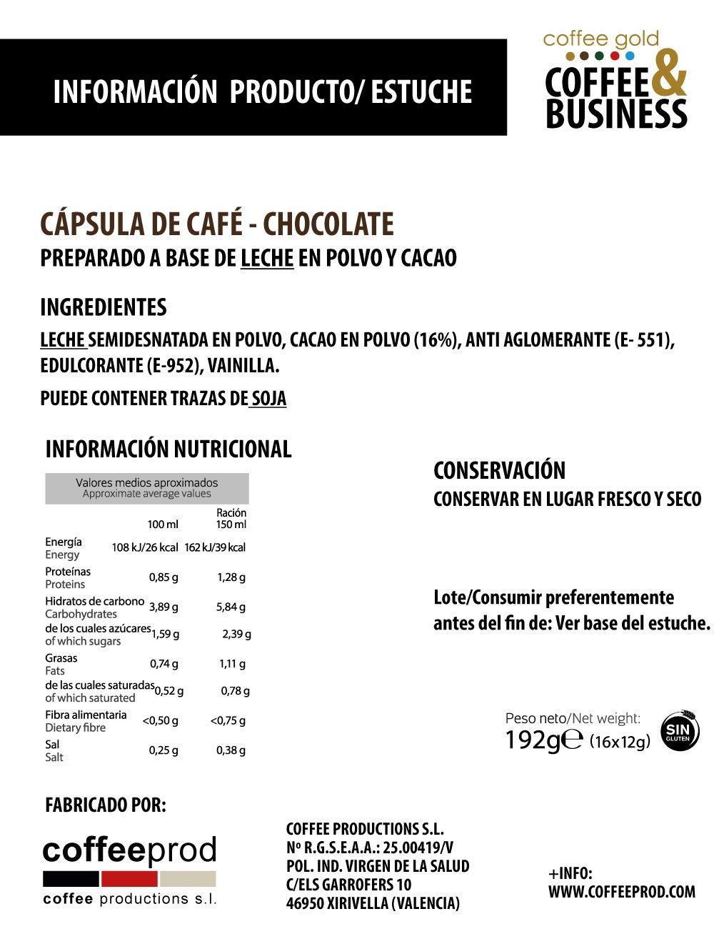 PACK AHORRO- 64 CÁPSULAS COMPATIBLES DOLCE GUSTO®* - CHOCOLATE: Amazon.es: Alimentación y bebidas
