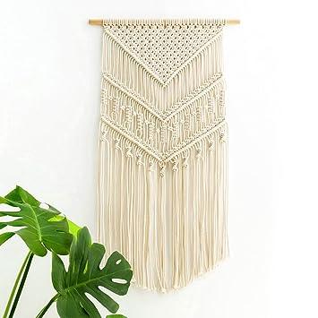 Captivating Mkouo Makramee Wandbehang Dekoration Für Ihr Zimmer Wie Die Küche Böhmische  Wanddeko Wandteppich Von Baumwolle Handgefertiges
