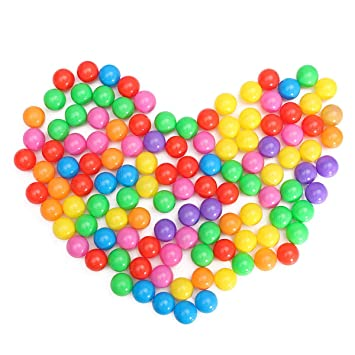 100Pcs Ocean Ball Plastic Colorful Balls Kid Secure Baby Pit Swim Pool Toy Gift