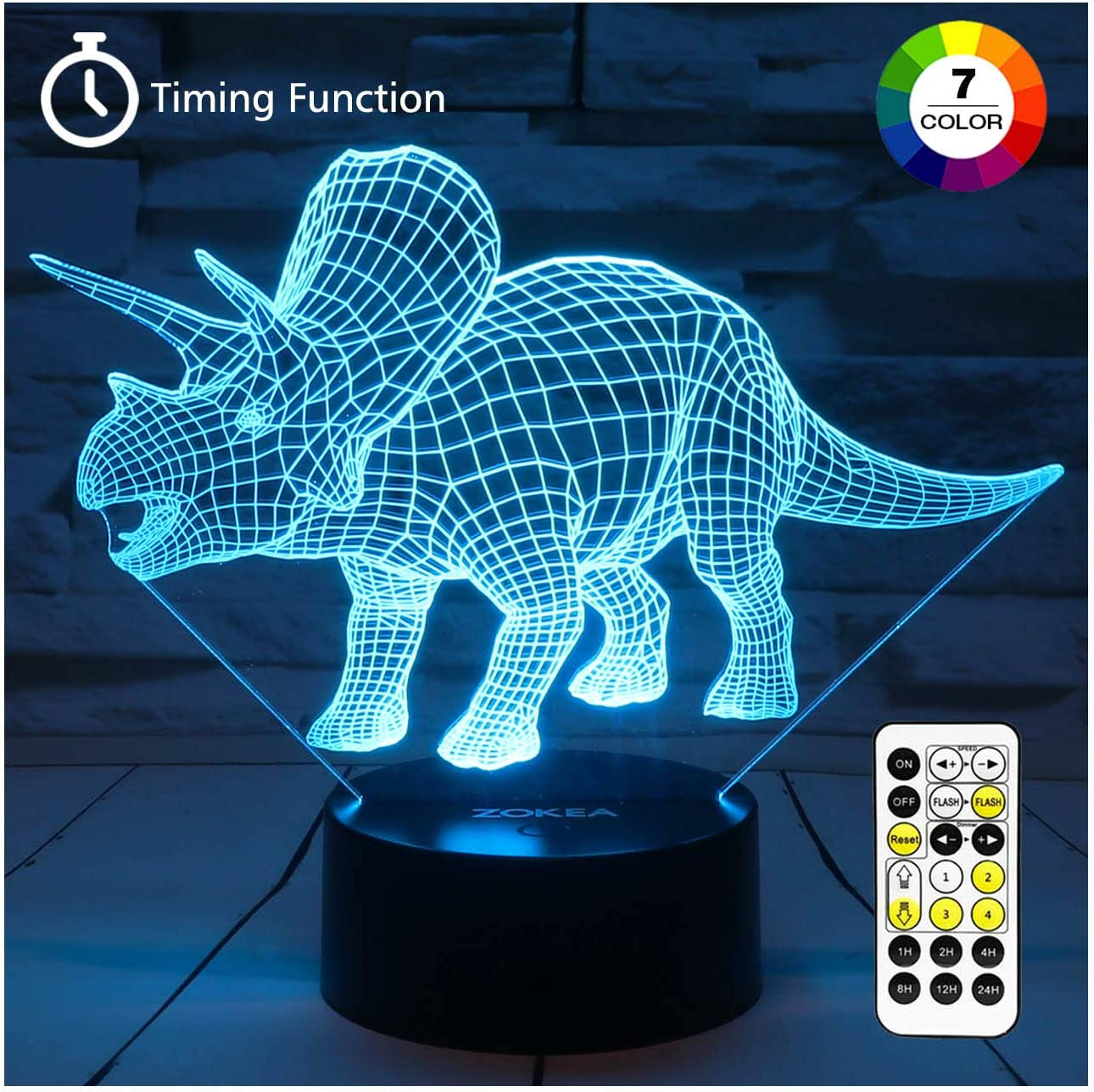 3D Dinosaur Night Light