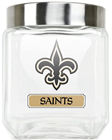 Amazoncom NEW ORLEANS SAINTS GLASS CANISTER LARGE Sports