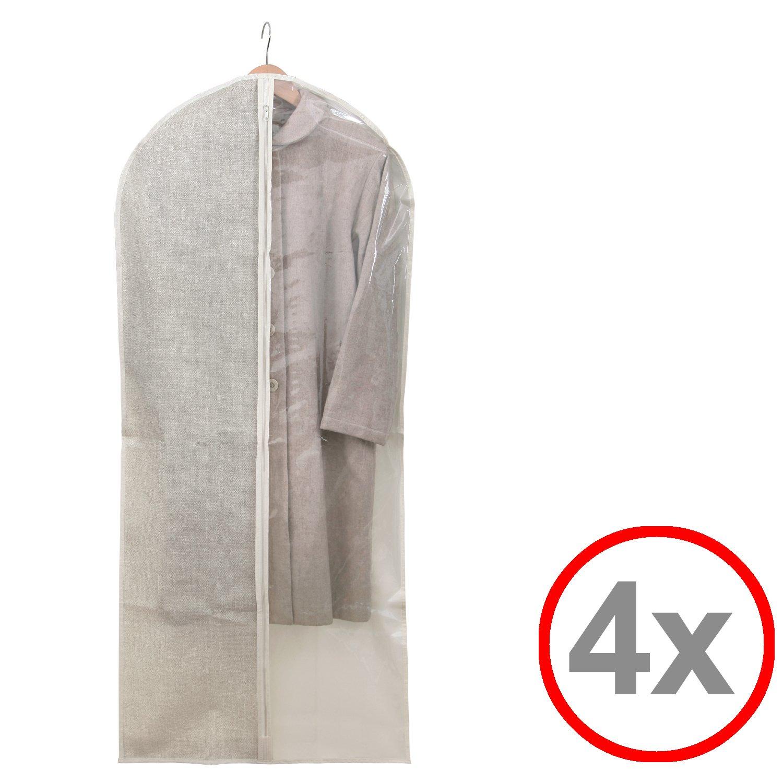 transparent 4x Kleidersack Kleiderhülle Anzugsack Anzug Schutzhülle