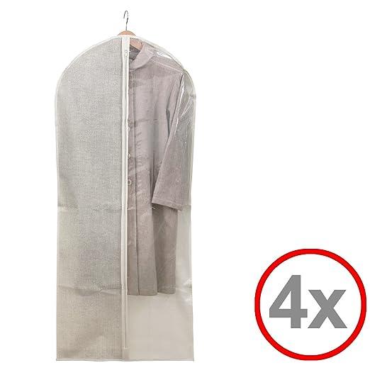 Funda para ropa (Traje Saco Traje funda, transparente, largo ...