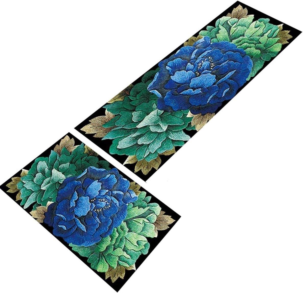 Amazon.com: GrandSiri 2 Pc Multicolors Flower Solid Floor ...