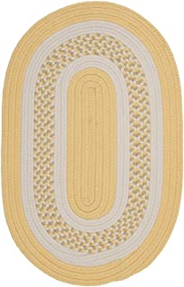 product image for Flowers Bay Round Area Rug, 6-Feet, Yellow