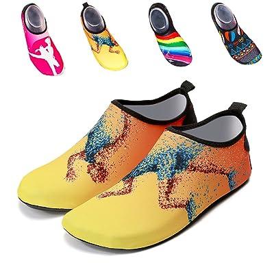 Barefoot Beach Shoes Walking Sandals Aqua Socks Quick-Dry Water Sports Shoes Yoga Socks Slip-on for Men Women Kids | Water Shoes