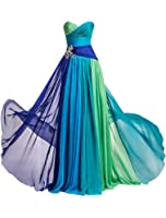MISSYDRESS Strapless Rhinestone Chiffon Bridesmaid Evening Party Prom Dress 08