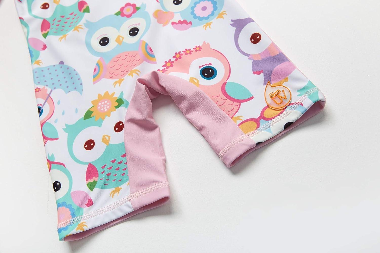 Baby M/ädchen Ein st/ück Lang/ärmelige-Kleidung UV-Schutz 50 Badeanzug MIT Einem Rei/ßverschluss(Blau-Porzellan,3-6M)