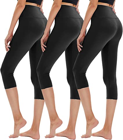 Tummy Control Soft Slimming Yoga Pants for Running Workout Reg /& Plus Size CAMPSNAIL High Waisted Capri Leggings for Women