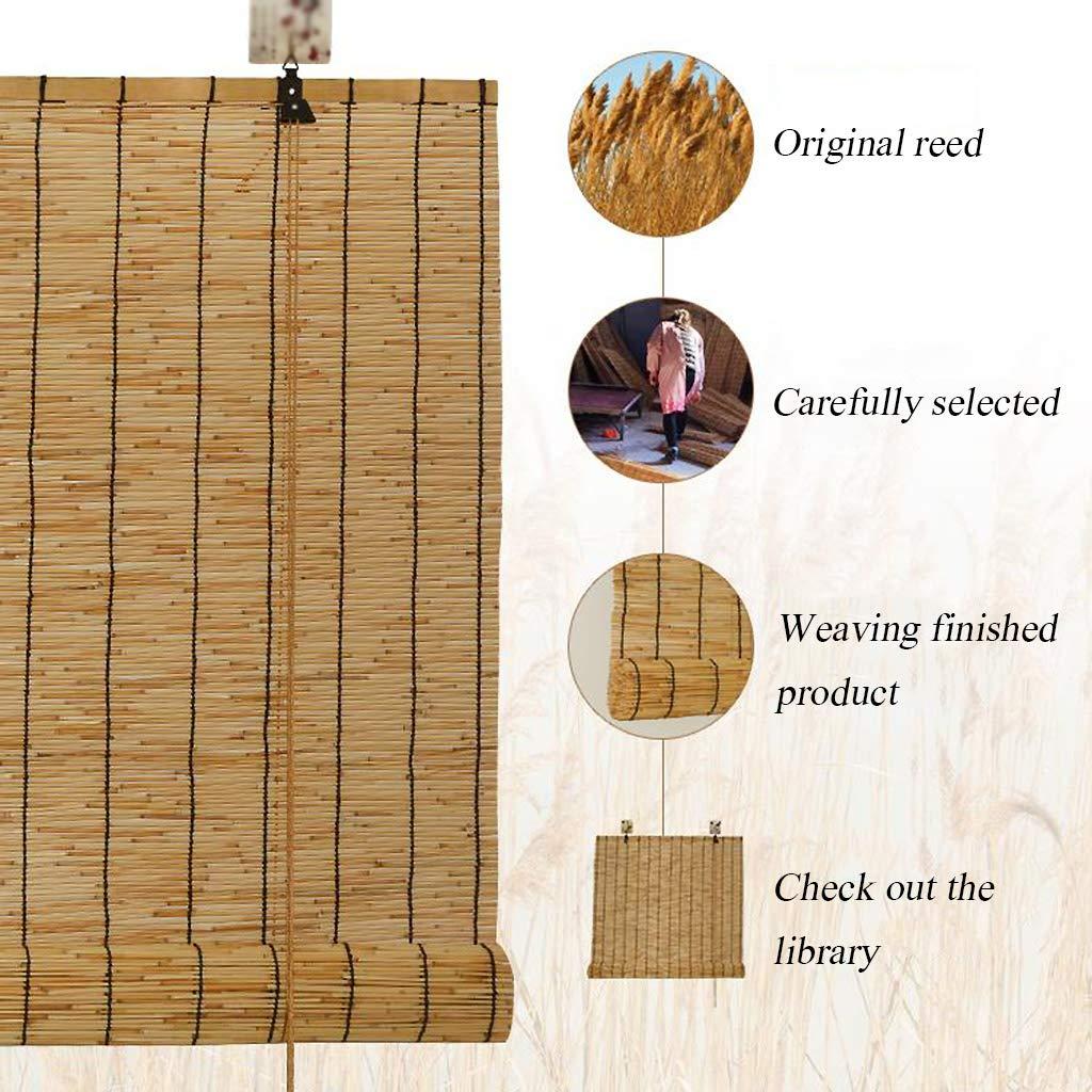 ombreggiatura per Uso Domestico persiane retr/ò Tenda oscurante- Tende a Rullo in bamb/ù per divisorie per Interni ed Esterni Tende in Paglia Dimensioni Personalizzabili ✔
