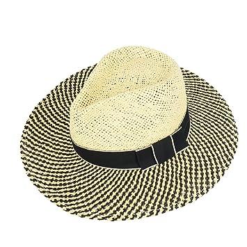 7aaf1636d9f GHMM Straw Hat Summer Men s Visor Hat Hand-knit Hat Vacation Beach Hat  Outdoor Work