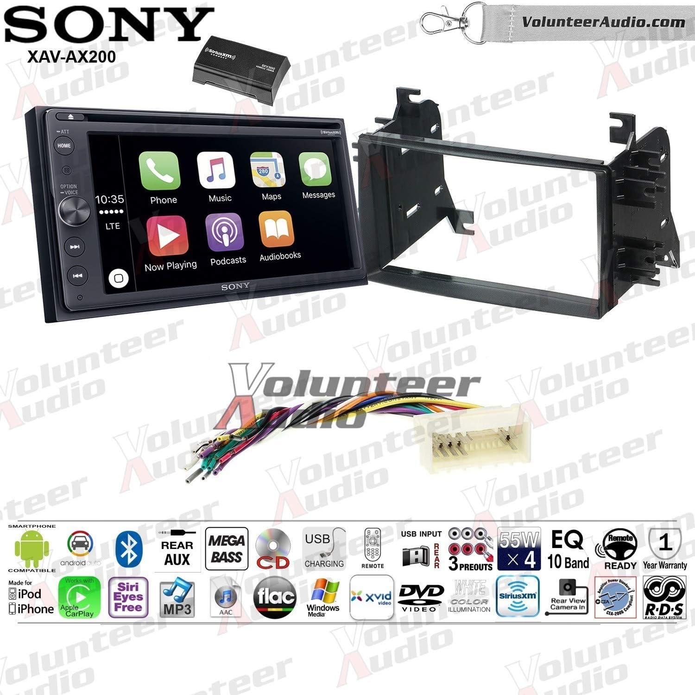 B07TYJH2RX Sony XAV-AX200SXM Double Din Radio Install Kit With Apple CarPlay, Android Auto, Sirius XM Fits 2007-2009 Hyundai Entourage, 2006-2008 Kia Optima 712B6LqQQRAL.SL1500_
