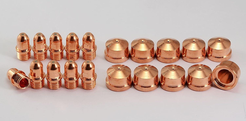 C1372 Plasma Spitze & 1376 Plasma Elektrode fü r Cebora CP160 HP100, MP100 CB100 CB150 PR0034, 20pcs RIVERWELDstore