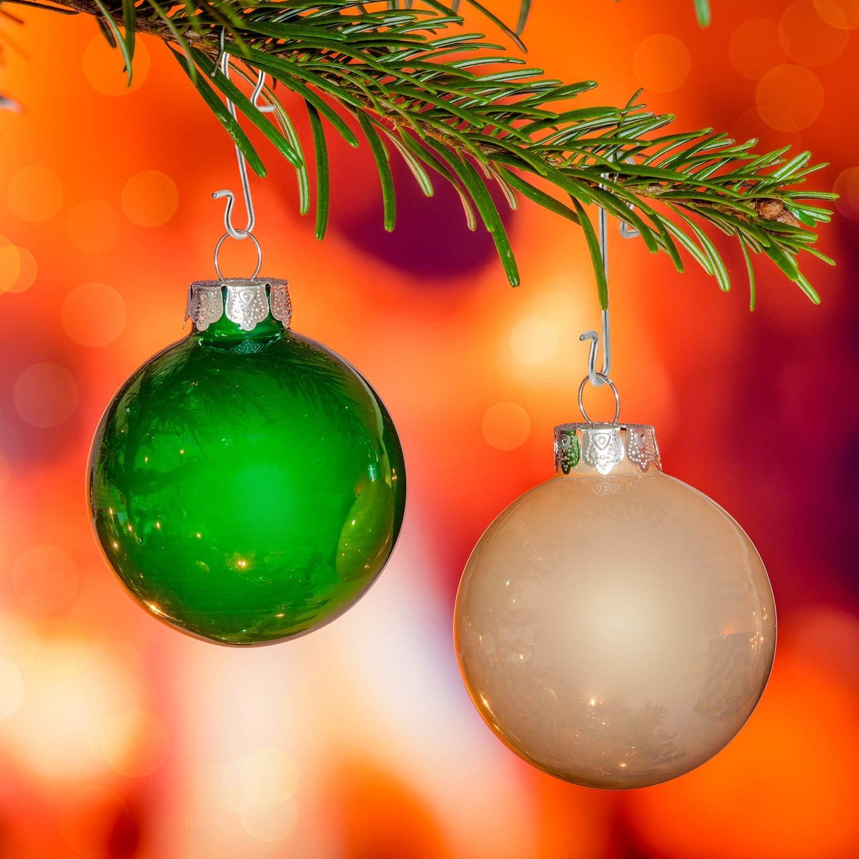 Tatuo Ganchos de Adornos de Navidad Ganchos de Alambre de Metal Colgador de Adornos con Caja de Almacenaje para Decoraci/ón de /Árbol de Navidad Dorado, 201