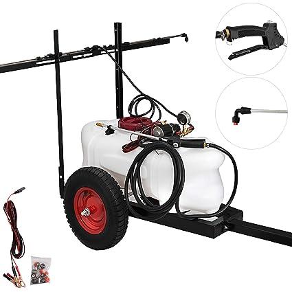 Happbuy Trailer Sprayer 15 8-Gallon Pull Behind Sprayer 12-Volt Tow Behind  and Spot Sprayer 5 5 FT for Garden or Farm