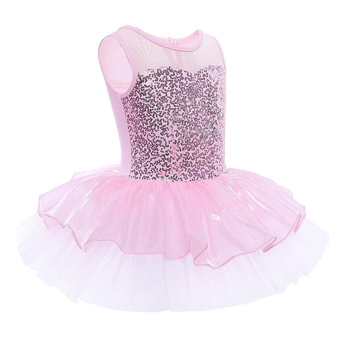 FEESHOW Maillot Tutú Ballet niña Vestido ballet con ...