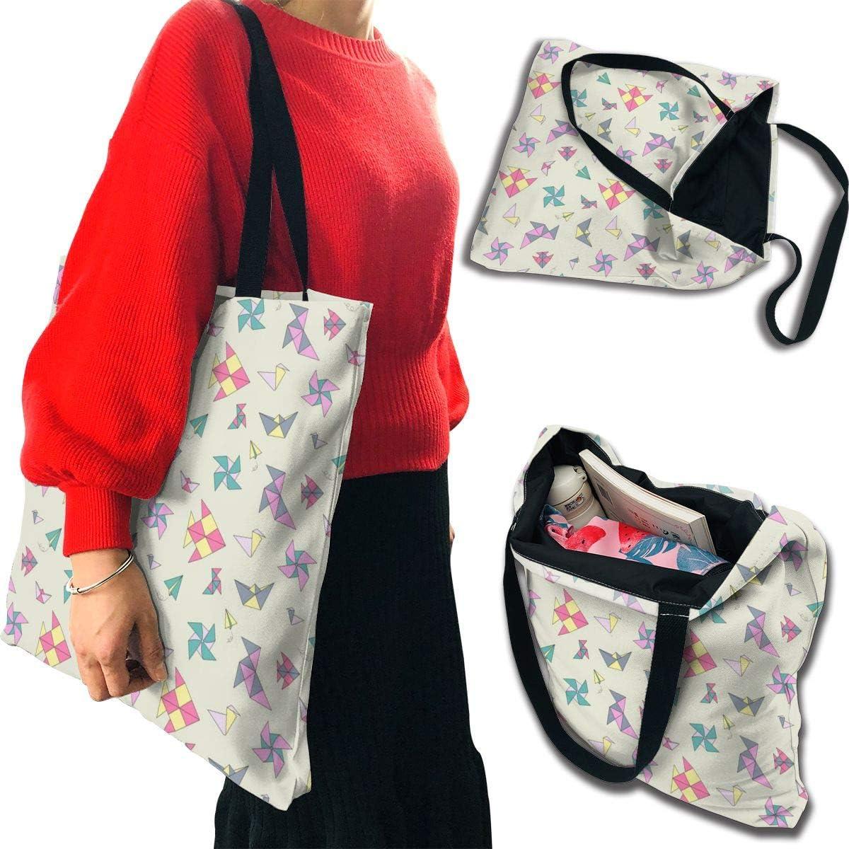 PengMin Windmill and Kite Fashion Womens Multi-Pocket Vintage Canvas Handbags Miniature Shoulder Bags Totes Purses Shopping Bags
