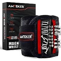 Amteker Magnetische armband, cadeau voor mannen of papa, magneetarmband, ambachtslieden, met 15 krachtige magneten…