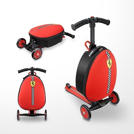 Ferrari Equipaje Maleta Patinete Scooter niños de 3 a 7 años tres ...