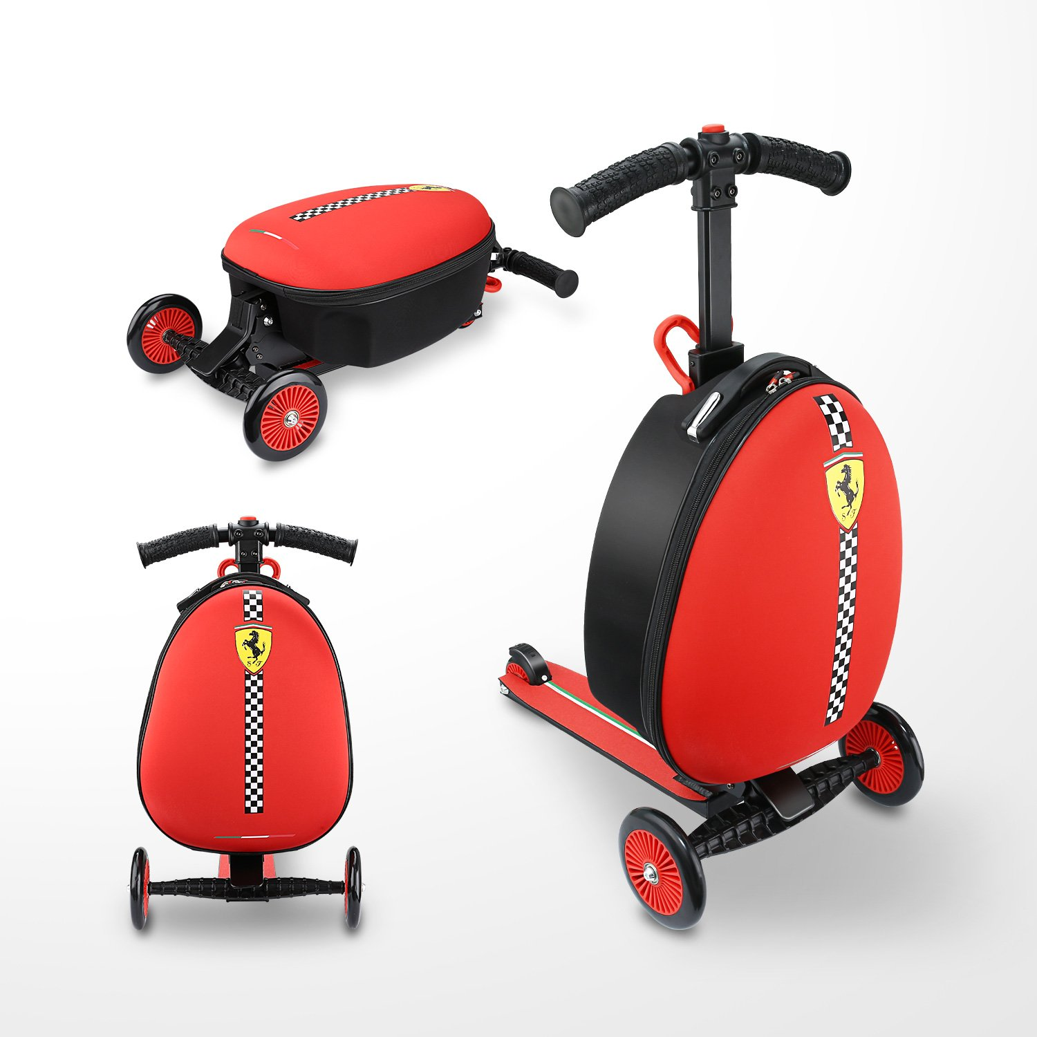 Kinderkoffer Scooter - Ferrari Kid Scooter