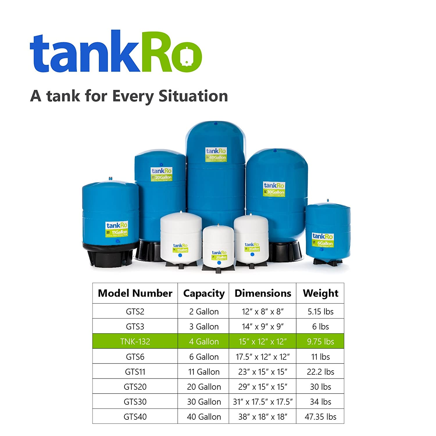RO Expansion Tank 4 Gallon - NSF Certified - Compact Reverse Osmosis ...