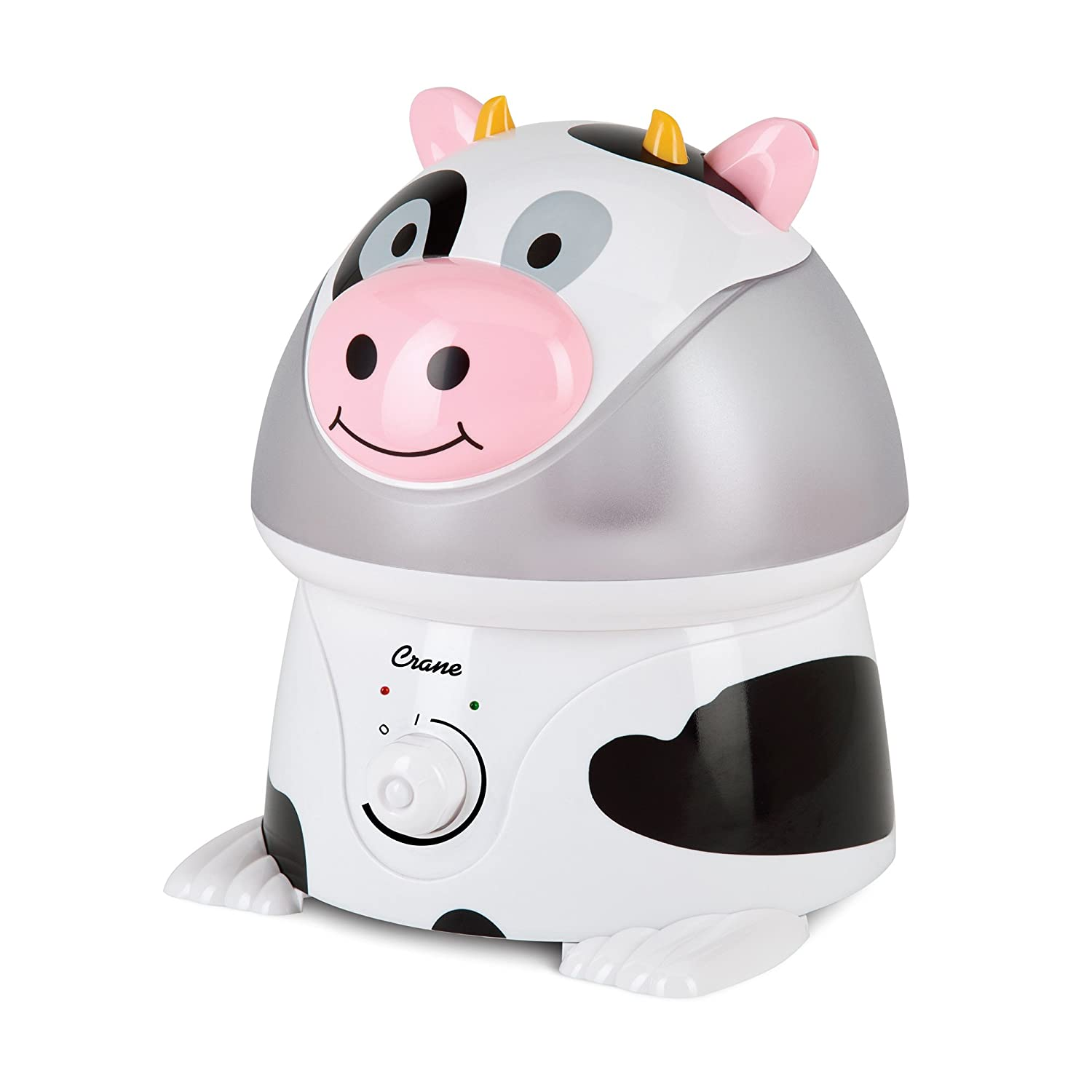 Crane Filter-Free Cool Mist Humidifiers for Kids, Cow