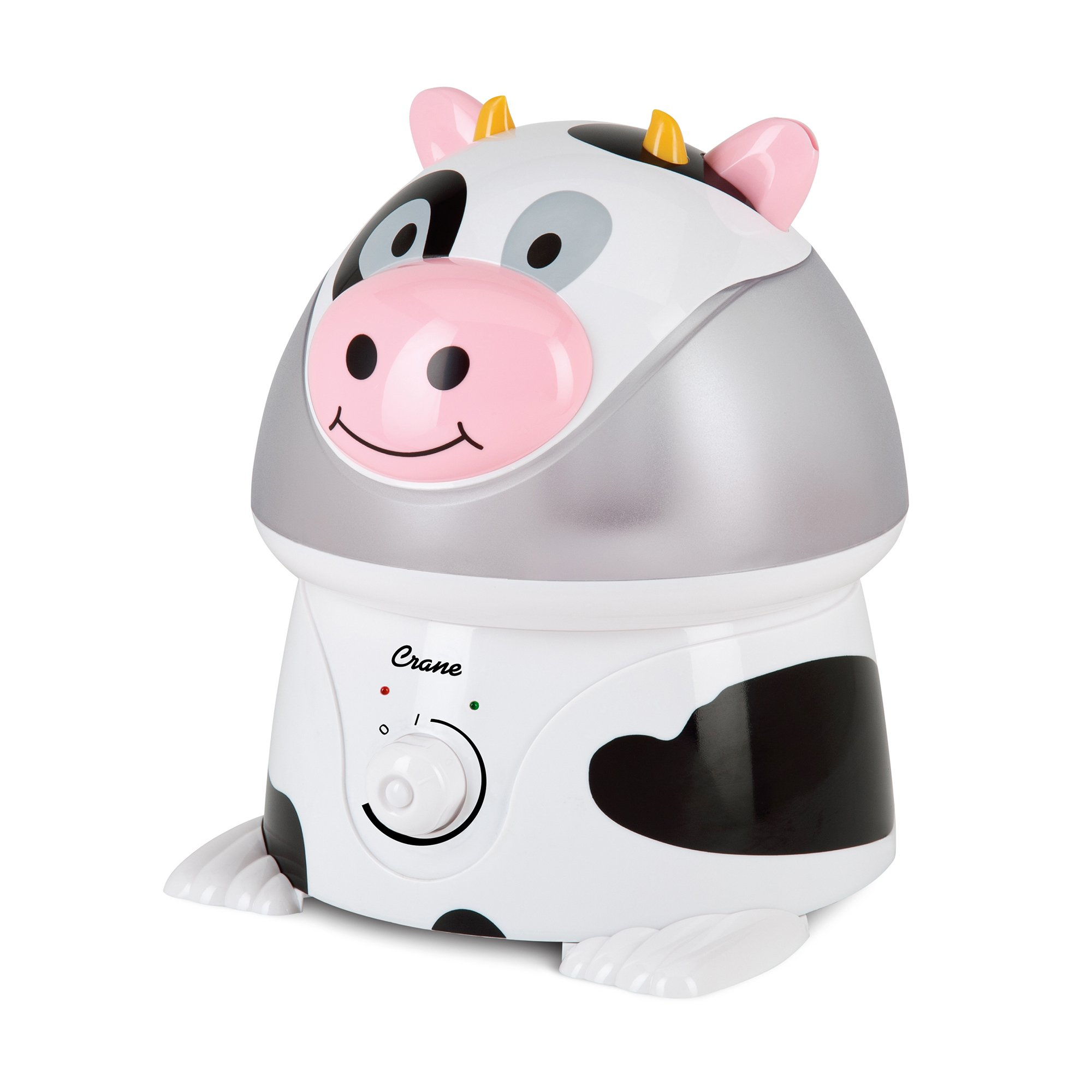 Crane USA Filter-Free Cool Mist Humidifiers for Kids, Cow