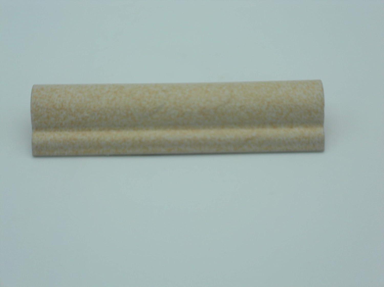 n/° 5 Pz Torello in Ceramica Beige Rustico Finitura Opaca cm 5 x 20