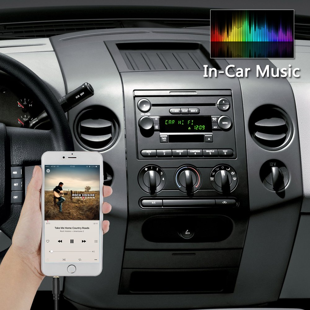 Apps2car Car Stereo Aux Adapter 35mm Auxiliary Input Ford Xl2f Radio Wiring Diagram Cable Cord For Edge Expedition Explorer F150 F250 F350 F550 Focus Freestyle Mustang