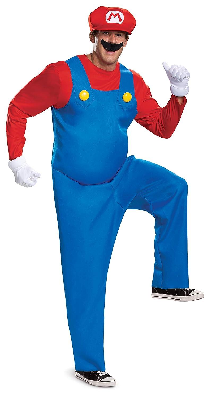 Nintendo Super Mario Bros Deluxe Disfraz, Rosso, Extra-Large Mens ...