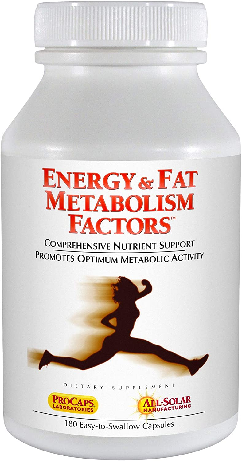 Andrew Lessman Energy Fat Metabolism Factors 180 Capsules – Promotes Optimum Fat Burning and Energy Metabolism, with Carnitine, Green Tea, Guarana, Ginseng, B-Complex. Easy to Swallow Capsules