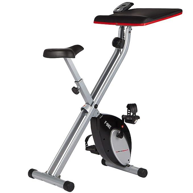 150 opinioni per Ultrasport F-Bike Work, Home Trainer con workstation, Cyclette da Allenamento,