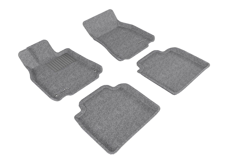 3D MAXpider Front Row Custom Fit Floor Mat for Select Lexus LS460//LS460L Models Gray Classic Carpet L1LX04012201