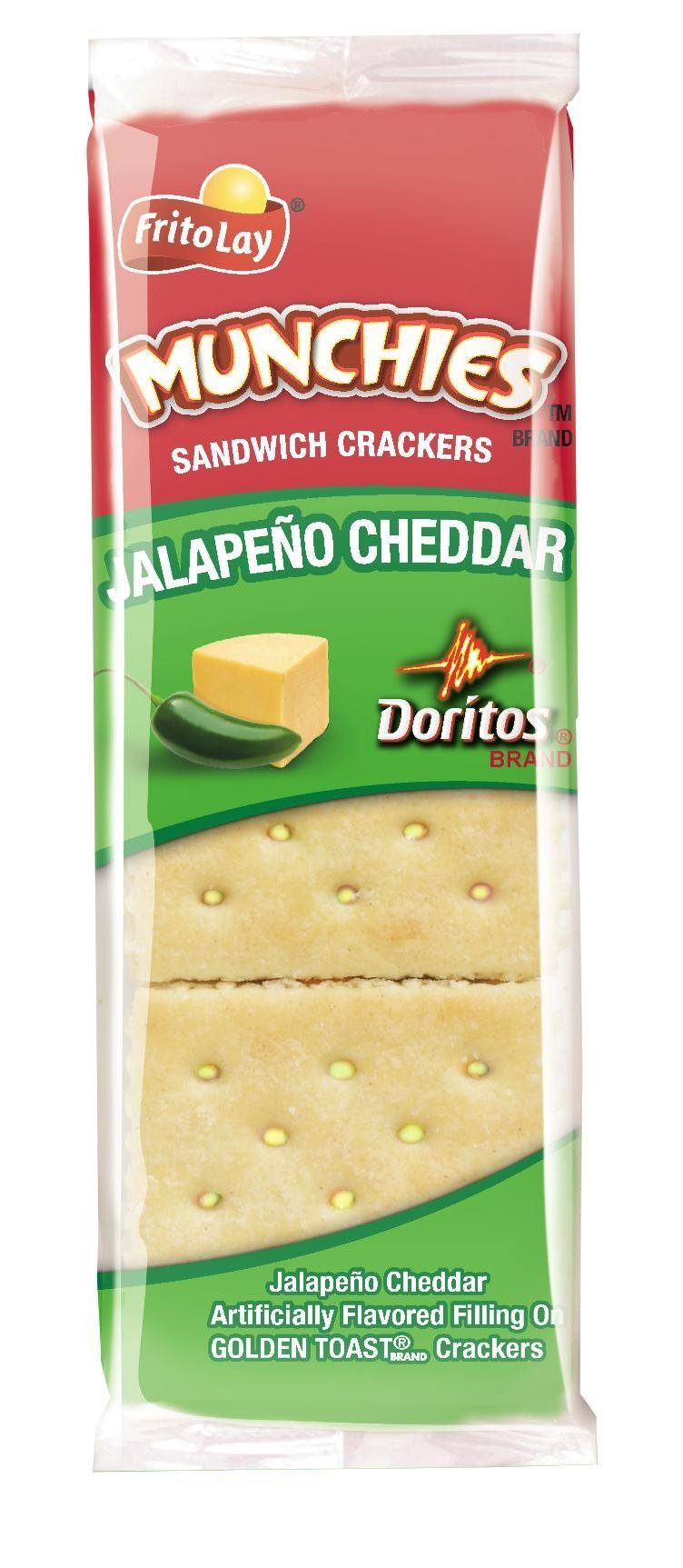 Munchies Crackers, Jalapeno and Cheddar, 1.38 Ounce (Pack of 96) by Munchies