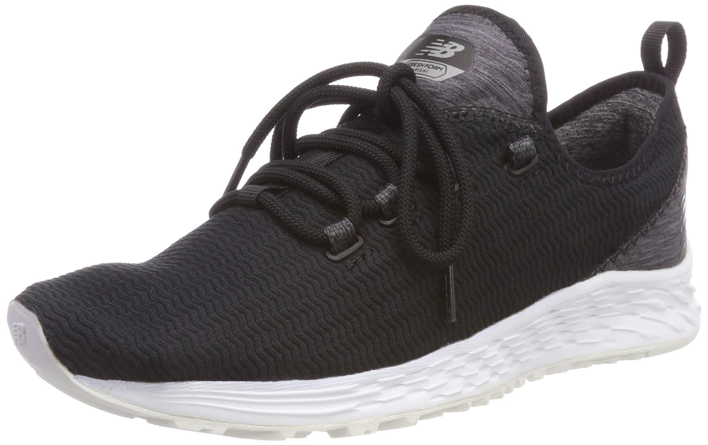 New Balance Women's Arishi v1 Fresh Foam Running Shoe, Black/Grey, 5 B US