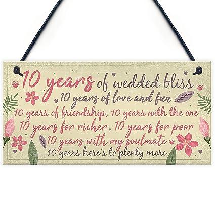 Meijiafei 10 Aniversario de Boda Tarjeta de Regalo Marido ...