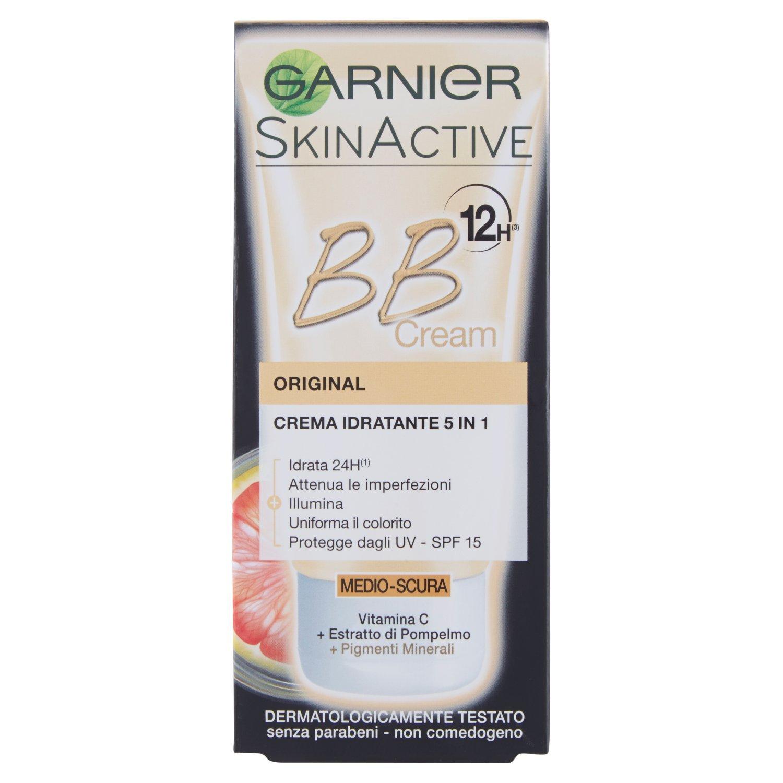 Garnier Bb Cream Original Crema Viso di Pelle 5 in 1 Medio-Scura, 50 ml C4067201