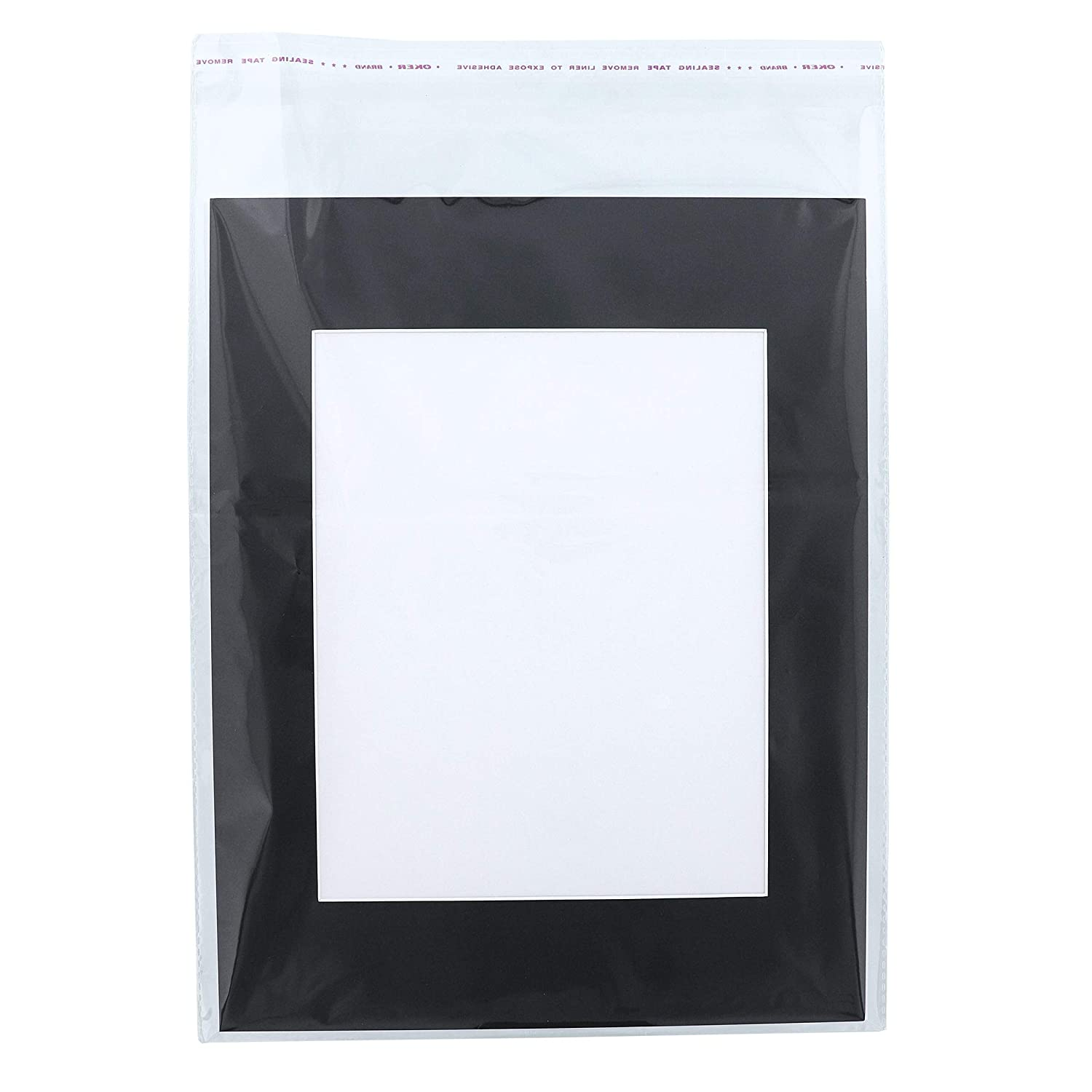Genie Crafts 15-Pack Black 11 x 14 Inch Picture Matted Frame Boards for 8x10 Photos